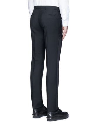 Back View - Click To Enlarge - Givenchy - Tuxedo stripe wool-Mohair pants