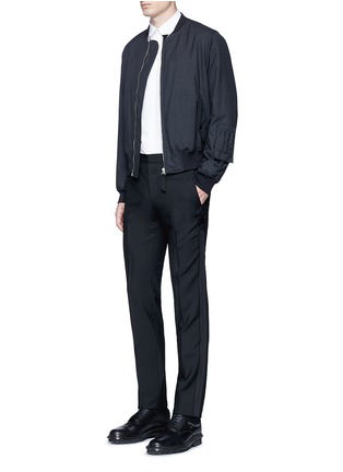 Figure View - Click To Enlarge - Givenchy - Tuxedo stripe wool-Mohair pants
