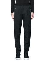Slim fit wool gabardine jogging pants