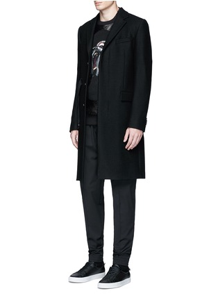 Figure View - Click To Enlarge - Givenchy - Slim fit wool gabardine jogging pants