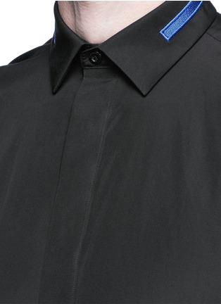 Detail View - Click To Enlarge - Givenchy - Stripe collar cotton shirt