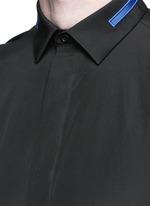 Stripe collar cotton shirt
