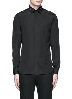 GivenchyStripe collar cotton shirt