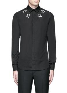 GivenchyStar embroidery cotton shirt