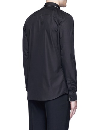 Back View - Click To Enlarge - Givenchy - Chain link trim cotton poplin shirt