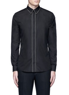 Givenchy Chain link trim cotton poplin shirt