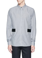 Hopsack patch stripe shirt