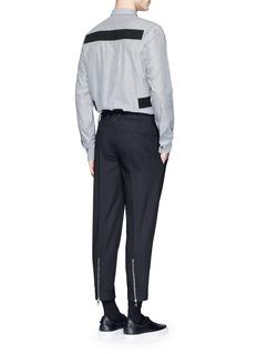 GivenchyHopsack patch stripe shirt