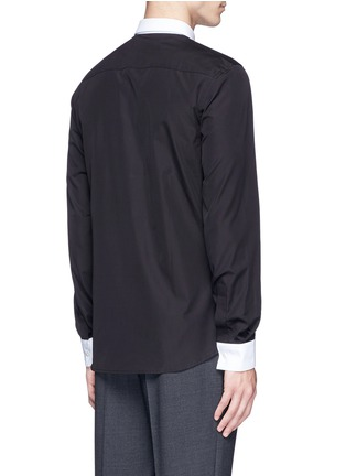 Back View - Click To Enlarge - Givenchy - Star stud piqué trim poplin shirt
