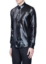 Silk blend lamé shirt