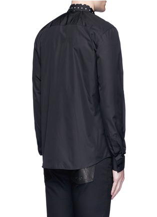 Back View - Click To Enlarge - Givenchy - Icon print collar cotton poplin shirt