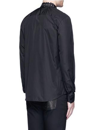 Givenchy Beauty-Icon print collar cotton poplin shirt