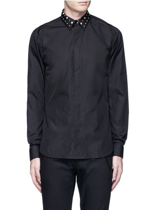 Main View - Click To Enlarge - Givenchy - Icon print collar cotton poplin shirt