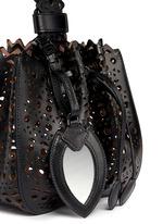 'Vienne' small lasercut leather bucket bag