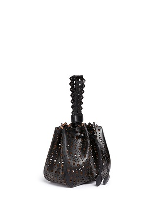Figure View - Click To Enlarge - Alaïa - 'Vienne' small lasercut leather bucket bag