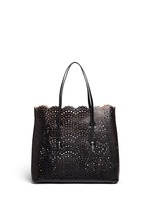 'Vienne Vague' large lasercut leather tote