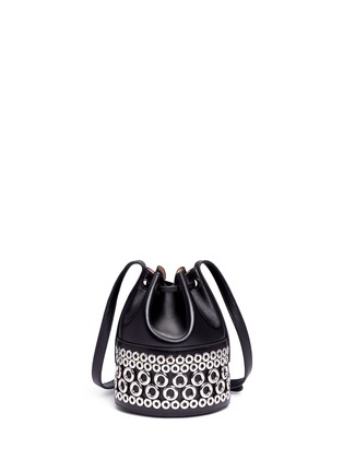 Azzedine Alaïa - Eyelet leather bucket bag
