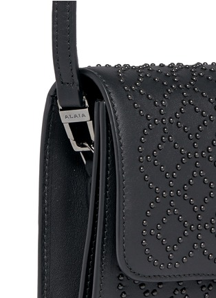Detail View - Click To Enlarge - Alaïa - 'Arabesque' stud leather crossbody bag