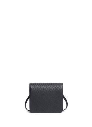 Back View - Click To Enlarge - Alaïa - 'Arabesque' stud leather crossbody bag