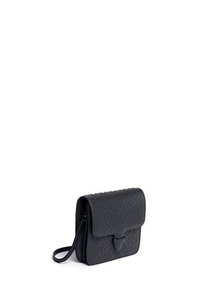 Front View - Click To Enlarge - Alaïa - 'Arabesque' stud leather crossbody bag