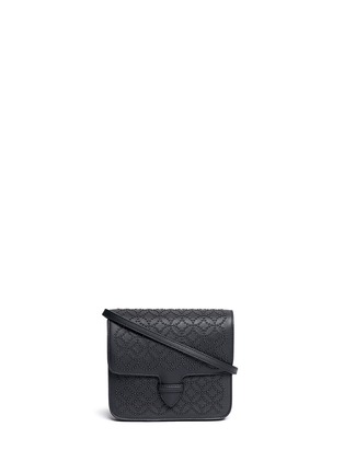 Main View - Click To Enlarge - Alaïa - 'Arabesque' stud leather crossbody bag