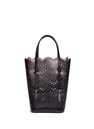Back View - Click To Enlarge - Alaïa - 'Vienne Vague' small leather tote