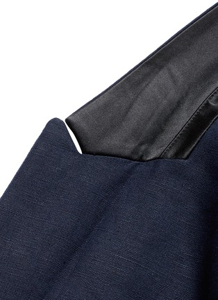 Detail View - Click To Enlarge - Scotch & Soda - Notch lapel cotton-linen blazer