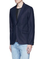 Notch lapel cotton-linen blazer