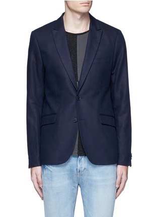 Main View - Click To Enlarge - Scotch & Soda - Notch lapel cotton-linen blazer