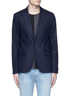Scotch & SodaNotch lapel cotton-linen blazer