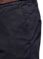 'Stuart' garment dyed slim fit chinos