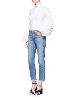 Caroline Constas'Jacqueline' ruffle turtleneck bell sleeve shirt