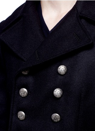 Detail View - Click To Enlarge - Dolce & Gabbana - Double breasted peacoat