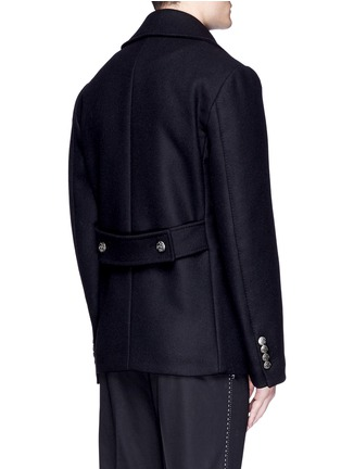 Back View - Click To Enlarge - Dolce & Gabbana - Double breasted peacoat