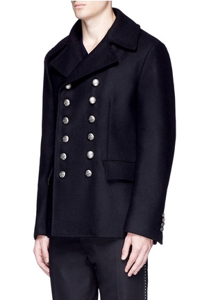 Front View - Click To Enlarge - Dolce & Gabbana - Double breasted peacoat