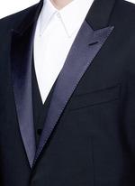 'Martini' satin trim wool-silk three piece tuxedo suit