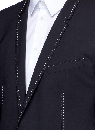 Detail View - Click To Enlarge - Dolce & Gabbana - 'Gold' slim fit contrast stitch wool suit