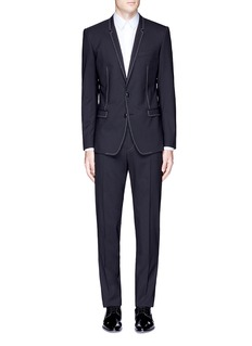 Dolce & Gabbana 'Gold' slim fit contrast stitch wool suit