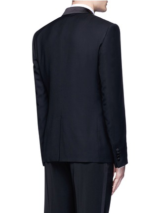 Back View - Click To Enlarge - Dolce & Gabbana - 'Martini' satin trim wool-silk tuxedo blazer