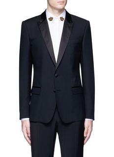 Dolce & Gabbana'Martini' satin trim wool-silk tuxedo blazer