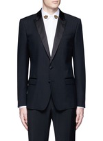 'Martini' satin trim wool-silk tuxedo blazer