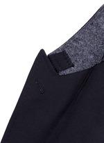 Slim fit bee embroidery wool tuxedo blazer