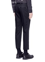Slim fit contrast stitch cropped pants