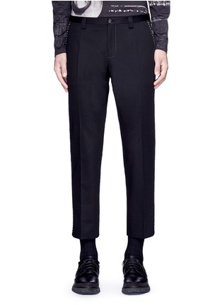 Main View - Click To Enlarge - Dolce & Gabbana - Slim fit contrast stitch cropped pants