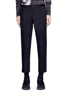 Dolce & Gabbana Slim fit contrast stitch cropped pants