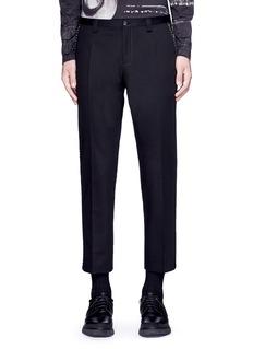 Dolce & GabbanaSlim fit contrast stitch cropped pants