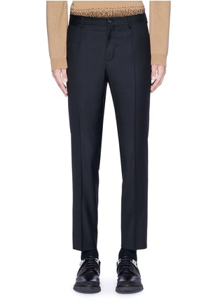 Main View - Click To Enlarge - Dolce & Gabbana - Slim fit wool pants