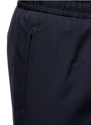 Detail View - Click To Enlarge - Dolce & Gabbana - Slim fit drawstring wool-cotton pants