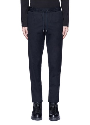 Main View - Click To Enlarge - Dolce & Gabbana - Slim fit drawstring wool-cotton pants