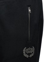 Crown embroidery jogging pants